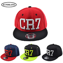 New Brand Children Soccer Star Ronaldo CR7 Embroidery Kids Baseball Cap Hat Bone Boys Girls Sports Snapback Hip-hop Caps Gorras