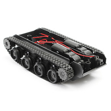 New Arrival 3V-7V DIY Light Shock Absorbed Smart Tank Robot Chassis Car Kit With 130 Motor For Arduino SCM For RC Toys Boys Gift(China)