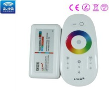 2.4G RGB touching remote RGB controller,DC12/24V ,20 automatical changing modes ,control distance 20-30m CE ROHS(China)