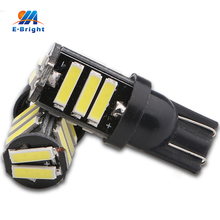 10pcs 7020 11SMD T10 W5W Xenon White 400-550LM LED Car Interior Dome Map Glove Box Cargo Area Turn Singal Light Free Shipping