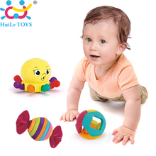 Wholesale 3PC Baby Toy Baby Rattles with Ring Bell Cute Cartoon Animal Newborn Baby Gifts Early Educational Toys Huile Toys Gift