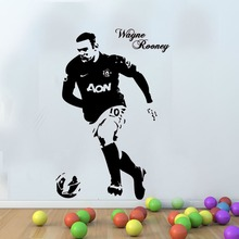 Man United - Wayne Rooney Football Wall Art Personalised any name Free Squeegee Kids Decal Sticker custom made 2 sizes