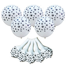 ZLJQ Patrolling Dog Paws Latex Balloons wedding Birthday Party Decoration Supplies Paw Print Balloon Kid Gift Baby shower Toys