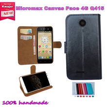 Super Hot!! 2016 Micromax Canvas Pace 4G Q415 Case Factory Price 7 Colors Leather Exclusive Slip-resistant Phone Cover+Tracking(China)