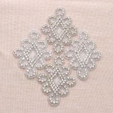 50Piece Handmade Rhiestone Applique Wedding Dress Accessories For Brides Prom Event Gown DIY(China)