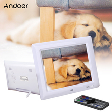 Andoer 8''HD TFT-LCD Digital Photo Frame 600*800 Multi-language Support Clock MP3 MP4 Movie Player Function w/Remote Desktop