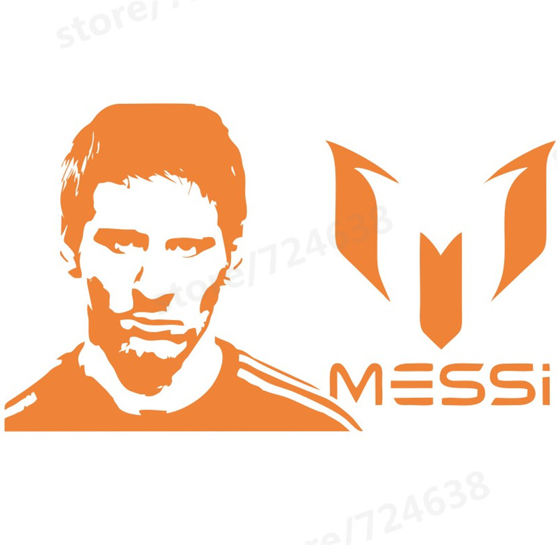 %name Sports footballer stickers Murale kids boys Lionel Messi after scoring of cheering room wall decor
