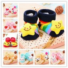 Baby Anti Slip Newborn 0-12Month Cotton Lovely Cute Shoes Animal Cartoon Slippers Boots Boy Girl Unisex Skid Rubber Sole Socks