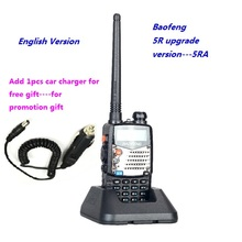 Baofeng UV-5RA Ham radio baofeng UV-5R upgrade version Dual-Band Transceiver walkie talkie Portable Radio Stations +car charger