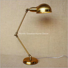 Nordic American country style retro nostalgia vintage bronze creative personality study desk table reading lamp free shipping(China)