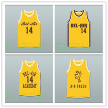 Will Smith Jersey Bel-Air #14 Embroidery Quality Air Fresh Yellow Basketball Jersey BA016(China)