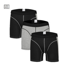 3Pcs/Lot men's boxer underwear pants cotton men solid boxer shorts loose calecon pour homme mens underwear boxers long leg(China)