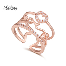 Buy Midi Finger Ring Engagement Love Heart Wedding Rings Women Vintage Anillo Bague Bijoux Femme Jewelry for $4.55 in AliExpress store