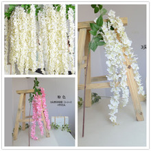 Artificial Wisteria Flower Rattan Flower Vines Garlands For Wedding Party Centerpieces Decorations Home Ornament 160cm
