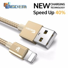 TIEGEM USB Charger Cable for iPhone 7 Cable Fast Charger Adapter 8 Pin For iPhone 6 6S Plus 5 5S SE iPad Air Mobile Phone Cables(China)