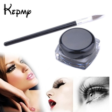 New Pro Waterproof Gel Eye Liner Shadow Cream Maquillaje Cosmetics Eyeliner + Brush Black Set Makeup lapis de olho eyeliners