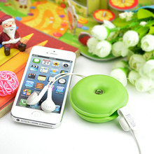 2pcs/vanzlife Creative multi - functional mobile phone headset solid line card silicone line organizer colorful turtle snare