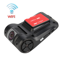 "Dashboard Camera Recorder 2.4"" LCD 1080P FHD 4-Lane Wide-Angle View Lens Built-In WiFi G-Sensor WDR Loop Recording(China)"