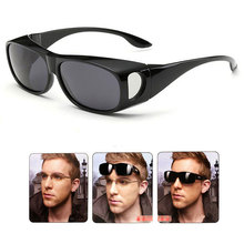 Wear Over sunglasses for men women Polarized lens,fit over Prescription Glasses UV400 ,LensCovers sun glasses