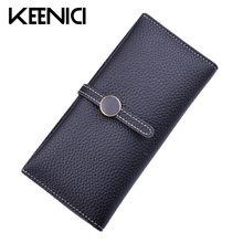 High Capacity Crystal HASP Women Wallets Long Purse Leather Wallet Clutch Coin Purse Ladies Purses Two Fold Buckle Wallets QL