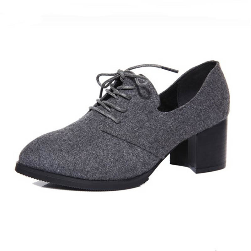 2017 Spring New Pumps Women Shoes High Heels Thick With  White Black Brown Gray Red Thick Plus Size Women Shoes 40 zk3<br><br>Aliexpress