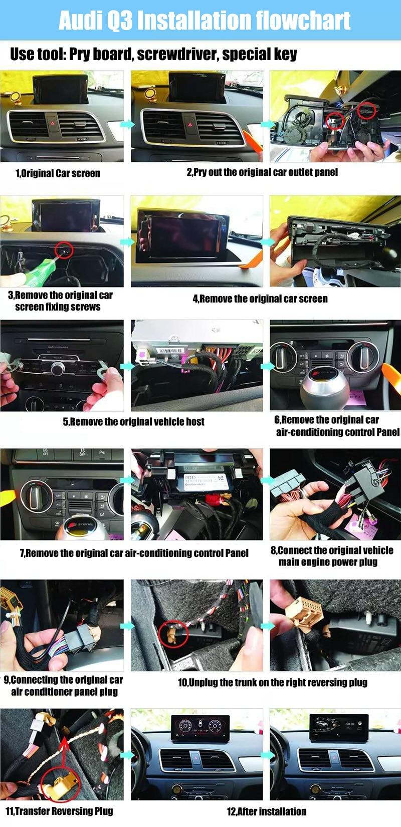 Liislee Car Multimedia Player NAVI 10.25 inch For Audi Q3 8U 2011~2018 Riginal Car MMI Style Radio Stereo GPS Navigation (6)