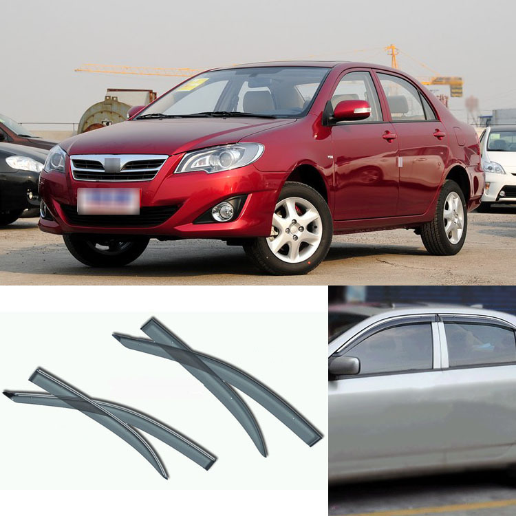 New 4pcs Blade Side Windows Deflectors Door Sun Visor Shield For Toyota Corolla <br><br>Aliexpress