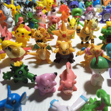 48pcs/lot in Random HOT Brand New Cute Pocket Monster PVC furnishing articles Go figures Mini Monster action figure toys lot 2-3