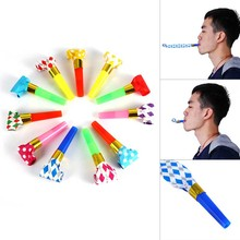 30Pcs/set Funny Colorful Whistles Kids Childrens Birthday Party Blowing Dragon Blowout AS Baby Birthday Supplies Toys gifts