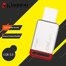 Kingston Mini USB 3.0 Pendrives 128GB 32GB USB Flash Drive 64GB USB 3.1 Pendrive 16GB Mental Pen Drive 8GB Memory Stick DT50(China)