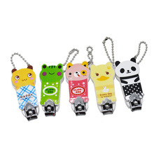 Cute Cartoon Animals Style Stainless Steel Manicure Care Nail Cutter Nail Clipper Trimmer Scissor for Finger or Toe Color Random(China)