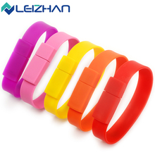 LEIZHAN USB Flash Drive Pen HighSpeed USB Silicone Bracelet Wrist Band 4GB 8GB 16GB 32GB 64DB Drive Stick U Disk Pendrives gift(China)