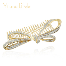 bijoux cheveux Rhinestone Hair Comb Wedding Bridal Vintage Hair Accessories Women Headpieces Headwear bridal com