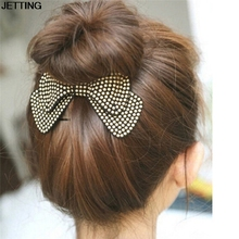 4 Colors Bow Hairpins New Designer All Match Hair Barrettes Women Hair Accessories