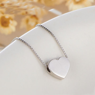 925 Sterling Silver Jewelry Heart Sterling Silver Necklaces & Pendants Statement Necklace Summer Jewelry Women Bijoux