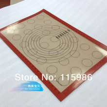 "Free shipping 15.2""X23"" Non stick silicone baking liner pastry mat pizza mat no grease spraying mat fondant liner cooking sheet(China)"