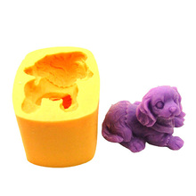New 2017 puppy dog animal silicone soap mold form for soap Clay mold Salt carving silica gel mould wholesale