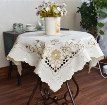NEW Arrive Christmas Hand Fresh Embroidery Tablecloths 85X85CM Square Coffee Tablecloth Piano Cover towel Home Cover cloth(China)
