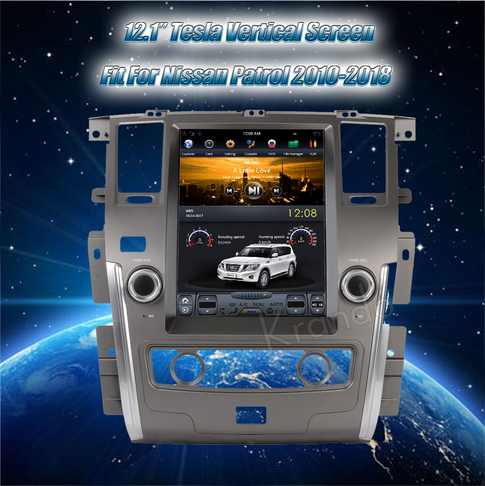 Krando Vertical screen android car radio multimedia for Nissan patrol low version big screen navigation with gps system (12)
