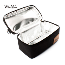 New Winmax Factory Outlet Black Insulated Daily Cooler Bag Box Sets Portable Pizza Safe Big Container Thermal Picnic Cooler Bags