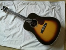Deluxe Acoustic Guitar J-45 Vintage Sunburst Acoustic Electric Guitar fishman pickups(China)