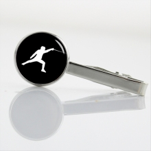 Vintage Fencing Art men Tie Clips Novelty casual sports events Track and Field Boxing Archery Sky Diving Bowling Tie Clip T380(China)
