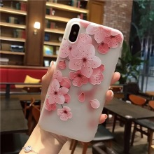Buy 3D Flower Phone Cases iPhone 7 X 8 6 6S Plus 8Plus 5S 5 SE Case Luxury Soft Silicone TPU Pink Red Rose Picture Cover Girl for $1.69 in AliExpress store