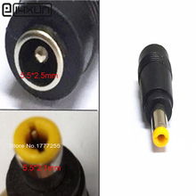 5.5 x 2.5 mm female to 5.5 x 2.1 mm male DC Power Connector Adapter Laptop 5.5*2.5 to 5.5*2.1 mm(China)