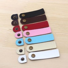 all-match small rounded corners fillet Leather buckles 7 colors 7*2CM DIY bag belt buckle Bag accessories(China)