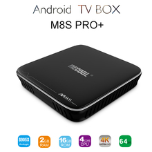 M8S Pro+ Android 7.1 TV BOX 2GB RAM 16GB RAM Amlogic S905X Quad-core Android TV BOX M8s Pro 2.4G WiFi UDH 4K HDR 10 Media Player(China)