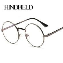63ddf87418ff9 HINDFIELD Moda Estilo Rodada Óculos de Armação Do Vintage Óculos Mulheres  Homens Óculos de Armação Óculos de Armação Óptica Ócul.