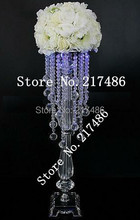 crystal table top chandelier centerpieces for weddings , crystal centerpieces without the bead stands and flowers