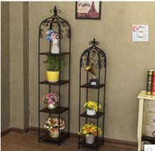 Clothing store bird cage storage shelves iron flower frame display stand multi - storey package bag floor - style shoe rack(China)