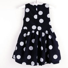Kids Girls Chiffon Polka Dots Bow Belt Sleeveless Princess Dress Sundress